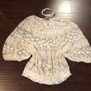 Tops - 🔥Just In🔥 Cream Lace Batwing Top